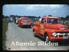1950s red border Kodachrome photo slide Ford Truck Pataskala OH LeVeck Voorhees