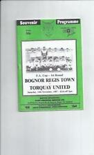 FA Cup Football Programmes with Match Ticket