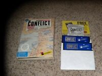 "Conflict IBM PC Game on 5.25"" disks with box"