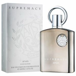 Supremacy Silver By Afnan Pour Homme EDP 100ml Brand New (FREE 3ML AVENTUS OIL)