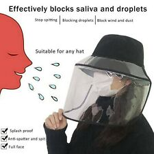 Fisherman Bucket Hat Cap with Removable Full Face Protective Visor Shield