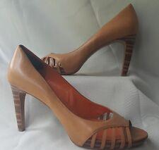 Via Spiga Women's Size 10 Heels Beige Open Toe Shoe 10 Z2