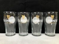 4 Guinness Logo 18 Oz Tall Beer Glasses Barware VGUC Only For The Bold VGUC