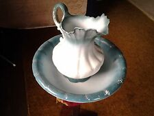 Antique WASH PITCHER and Bowl Semi-porcelain GOODWIN POTTERY CO  1920