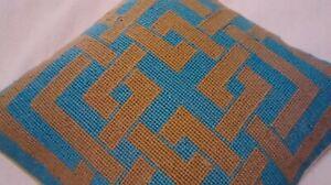 Trina Turk Needlepoint Pillow Needlepoint and Velvet - Handmade