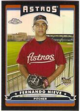 FERNANDO NIEVE BLACK REFRACTOR ROOKIE /549 2006 TOPPS CHROME 323 HOUSTON ASTROS