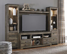 Ashley Trinell Rustic Plank Finish Televsion Entertainment Center Unit