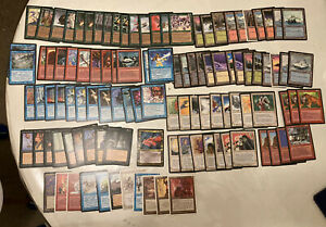 Magic the Gathering 4th Ed Deckmaster Starter Set (1995) Approx 108 Cards Total