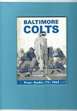1963 Baltimore Colts NFL Media Guide