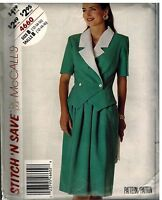 4660 UNCUT McCalls Sewing Pattern Misses Unlined Jacket Skirt Stitch n Save OOP