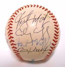 Fred McGriff Vinny Castilla Harper 2000 Rays Baseball Ball team Signed Autograph