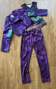 Disney Store Descendants Mal Costume Halloween Faux Leather Jackets Size 7/8