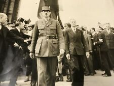 "ORIGINAL WW2  LARGE PHOTO "" Paris Free Gen De Gaulle Arc Triumphe "" Liberation"