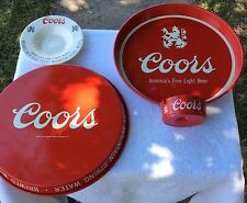 Vintage Colors Beer Serving Trays And Ashtrays