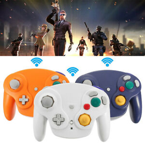 2.4G Wireless Controller Game Gamepad +Receiver For Nintendo Gamecube NGC Wii #!