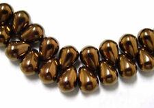 50  Exquisite Bronze Czech Glass Tear Drop Teardrop Beads 8MM