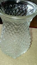 "Vintage Hoosier Glass 5 1/2"" Diamond Point Bulb Forcing or Floral Vase 4071"