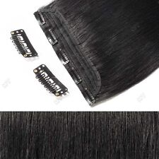100g Real Clip In Remy Human Hair Extensions One Piece 3/4Full Head MX004