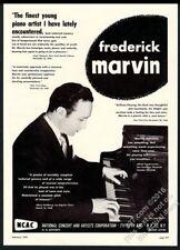 1949 Frederick Marvin photo piano recital tour booking trade ad
