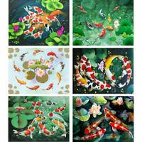 Full Drill 5D Diamond Painting KOI FISHES DIY for Home Wall Decor Art 30x40cm