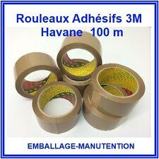 12 ROULEAUX SCOTCH ADHESIF HAVANE ~ 3 M ~ 50 x 100 M -  LIVRAISON GRATUITE