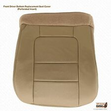 2001 F250 F350 Lariat Crew DRIVER Side Bottom Replacement Leather Seat Cover TAN