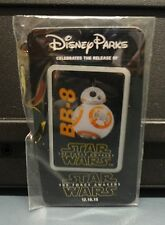 "DISNEY PIN 2015 STAR WARS ""THE FORCE AWAKENS"" MOVIE - BB-8 PROMO PIN BUTTON, NIP"