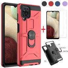 Para Samsung Galaxy A12/A02S/A52/A72 soporte caso cubierta + protector de pantalla