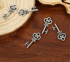 20pcs Antique silver nice key charm pendants F0091