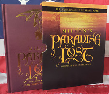 NEW Milton's Paradise Lost Illustrated Gustave Dore Slipcase Hardcover Edition