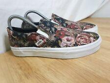 Slip On Vans Size UK 6 Moody Floral Flowers