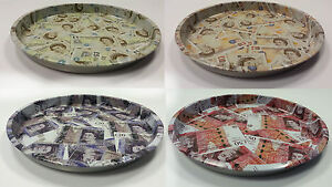 Sterling Round Tin Tray