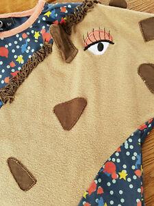 Außergewöhnliches Giraffen-Kleid v. UBANG für kleine Mädchen Gr. 110/ 4-5 J.