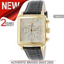 Emporio Armani Classic Men's Watch│Chronograph Square Dial│Leather Strap│AR1625