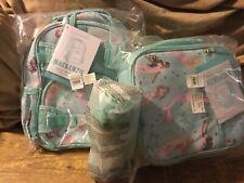 Pottery Barn Kids Aqua Mermaid MINI Backpack Lunchbox Water Bottle Set New Girl