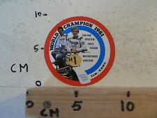 STICKER,DECAL HEUGA TON VAN HEUGTEN & FRITS KIGGEN WORLD CHAMPION 1981 A