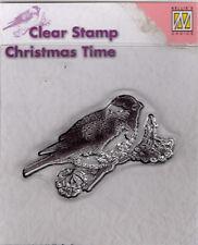 Clear Stamp Motivstempel Stempel Silikonstempel Vogel auf Ast (009)