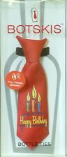 "Botskis - Musical Wine Bottle Tie ""Happy Birthday!"" with Candles Cartoon-New"
