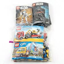 Lego Lot 4 Set Used w/Bookets Star Wars 75111 75108 - Creator 31005 - City 60073