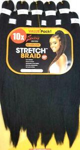 "Spetra Ez Braid Pre-Stretched Braiding Hair 25"" (10x Value Pack)"