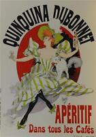 Quinquina Dubonnet Poster Fine Art Lithograph Jules Cheret Re Society