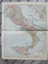 Antique map landkaart Ancient Italy Rome Sicilia 1907  mappa antica