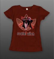 ENDGAME SCARLET WITCH ATHLETIC *OLDSKOOL QUALITY LADIES T-Shirt *FULL FRONT*