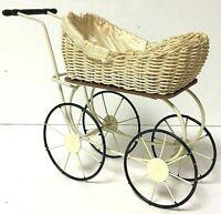 Vintage Louis Nichole Kurt Adler Victorian Style Doll Pram Carriage Buggy