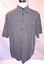 Bugatchi Uomo Mens Short Sleeve Button Front Shirt Size XL