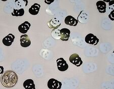 Table Scatters Foil Confettii Skulls Blk / Wht BUY 1 GET 1 FREE