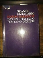 GRANDE DIZIONARIO HAZON GARZANTI INGLESE ITALIANO ITALIANO INGLESE