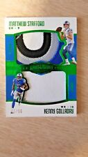 2017 Plates & Patches Matthew Stafford Kenny Golladay Dual Patch Green /10 Lions