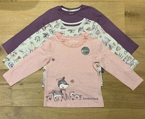 Girls Long Sleeve Tops pack of 3, size 18-24 months, Woodland Friends (a1)