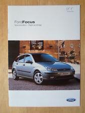 FORD FOCUS FLIGHT & EDGE 2003-04 UK Mkt sales brochure